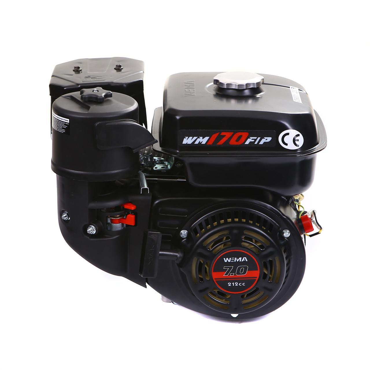 Двигатель бензиновый Weima WM170F-Q NEW (HONDA GX210) (шпонка, вал 19 мм, 7.0 л.с., бак 5 л)