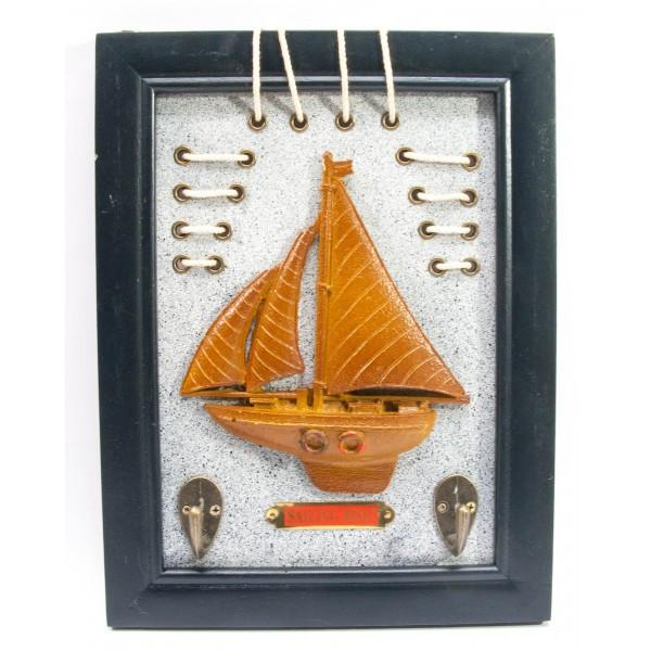 Ключница деревянная Морская яркая