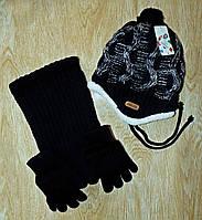 Комплект детский шапка, шарф, перчатки - Turkey