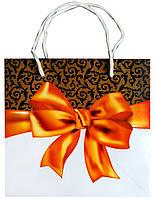 Подарочный пакет глянцевый 16 см