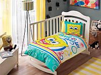 Постельное белье для новорожденных ТАС Sponge Bob Bubble Baby Ранфорс