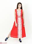 Домотканое вышитое платье в пол с этническим орнаментом, фото 3