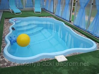 Композитный бассейн Одесса 4,70х3,00м глубиной 1,5м