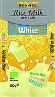 Органический белый шоколад, без глютена, Bonvita, 100 гр