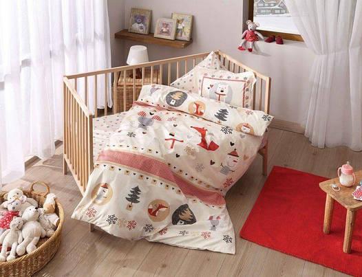 Постельное белье для новорожденных ТАС Snow Red Baby Ранфорс