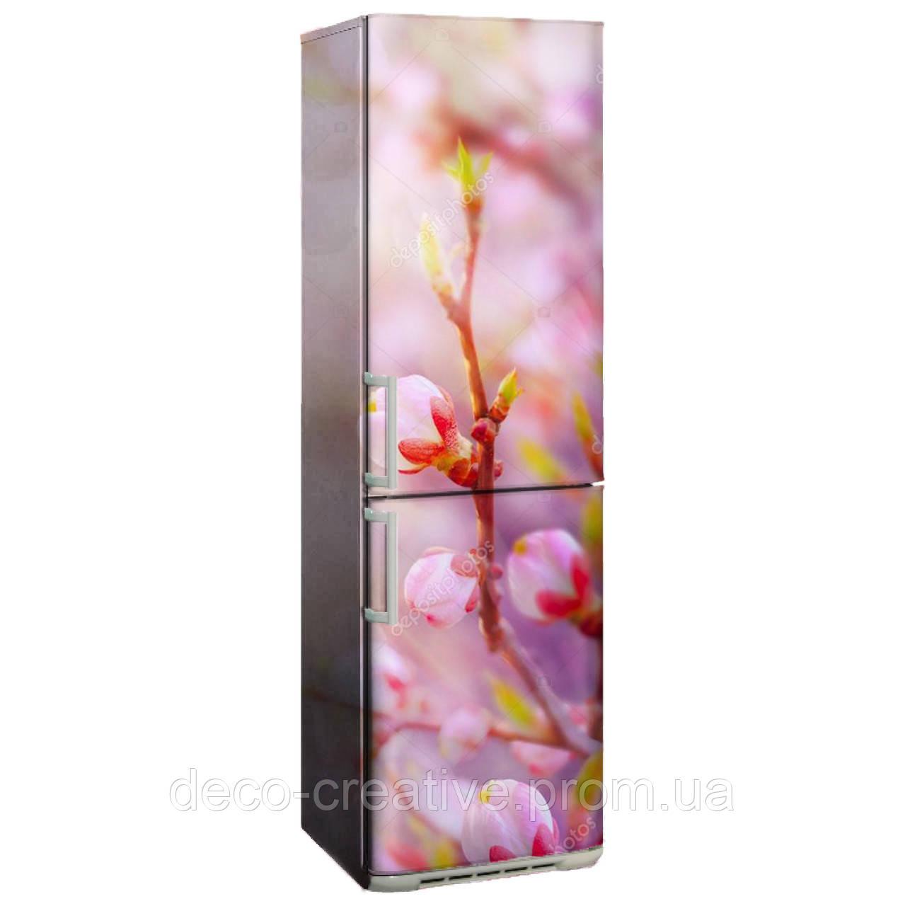 """Наклейка на холодильник """"Весенние цветы"""""""