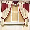 Набор тюль шторы и ламбрекен Rosa3 (бордо)