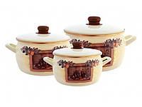 136845 Набор посуды  2,2л.,4л.,5,3л. 2278 Принц Мадрид Металац Метрот