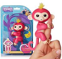 Оригинальная интерактивная игрушка обезьянка Fingerlings Baby Monkey