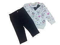 Breeze Комплект для девочки р74-98 кремовый/синий