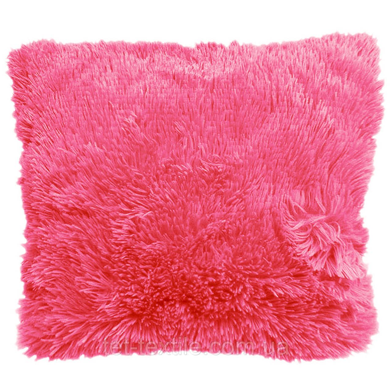 Наволочка с длинным ворсом, нежно-розовая (50х50)