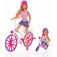 Кукольный набор Simba Штеффи и Эви. Прогулка на велосипедах 5733045
