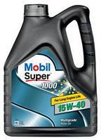 Минеральное моторное масло 15W40 Mobil Super 4 л