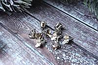 Колокольчик (звоночек) 1 см металлические 10 шт уп. серебристого цвета, фото 1