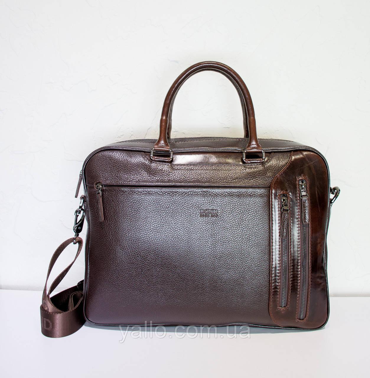 Мужская кожаная сумка BOND 1209-286
