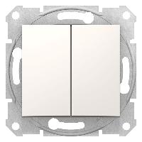 Выключатель двухклавишный проходной сл.кость Sedna(Седна) Schneider electric(Шнайдер Электрик)