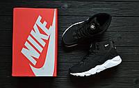 Зимние кроссовки мужские Huarache Winter Shoes Black/White