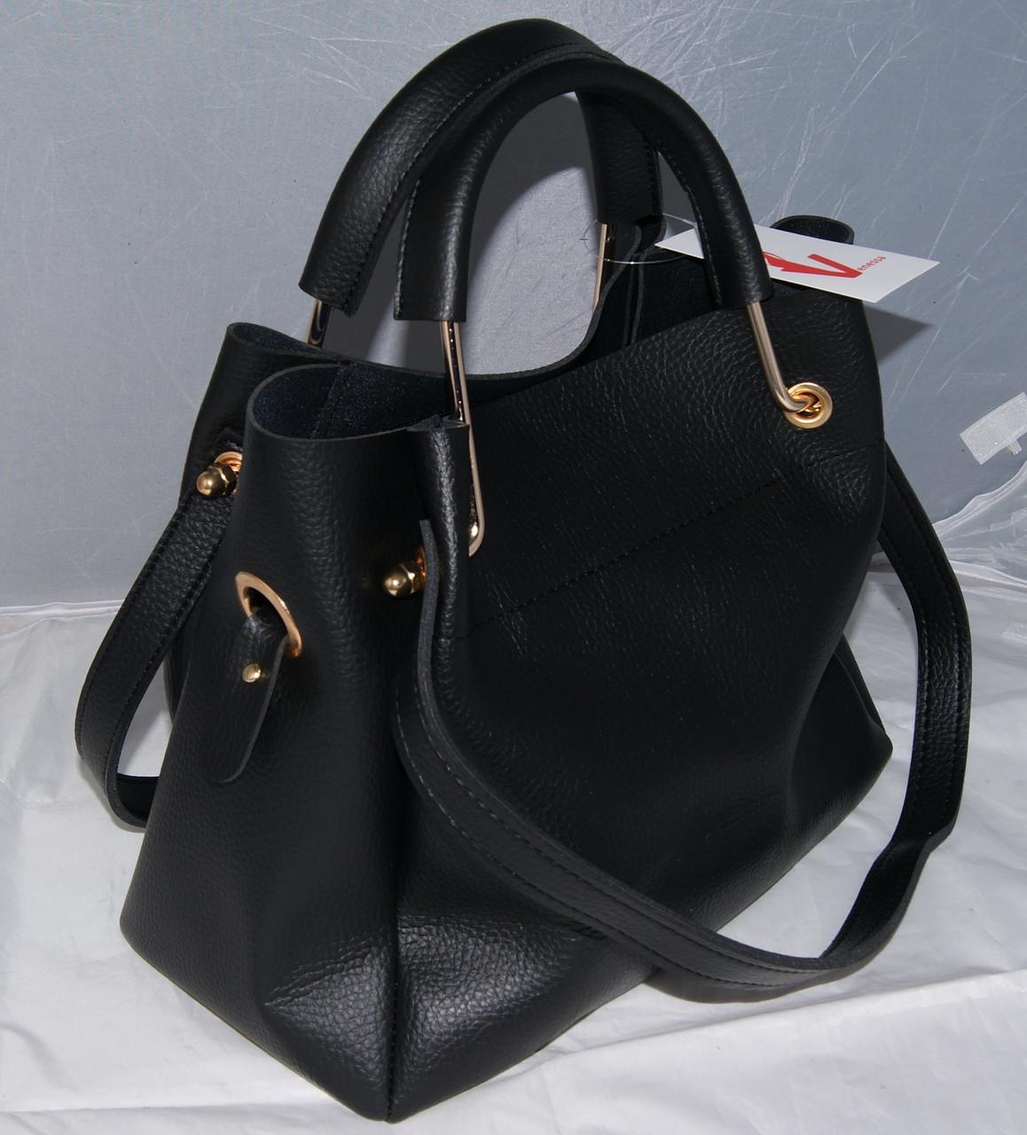 b88d00cf2a7f ... Женская черная mini сумка-шоппер Michael Kors (Майкл Корс) с  отстёгивающейся косметичкой, ...
