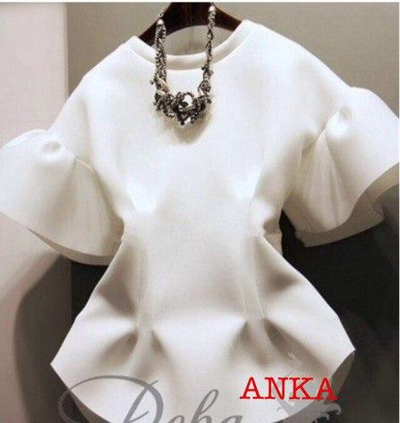 Белая блуза неопрен