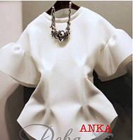 Белая блуза неопрен, фото 1