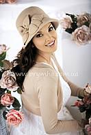 Шляпка женская зимняя с цветком Willi Kim