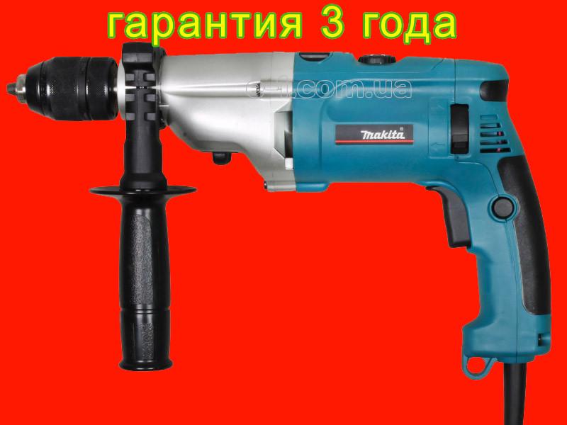 Дрель с металлическим редуктором на 1010 Ватт Makita HP2071