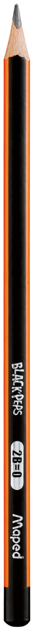 Карандаш графитовый black peps, 2b, без ластика mp.850022