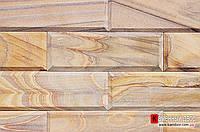 Песчаник Индия кирпичик с фаской Rainboy (Радуга)100х300х20мм
