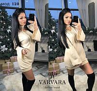 Платье из ангоры с чокером на шнурках мод. ВП120