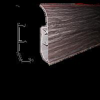 Плинтус напольный ПВХ с тремя кабель-каналами Идеал 2,5м