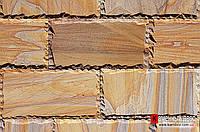Песчаник Индия кирпичик с фаской Rainboy (Радуга) 150х300х20мм