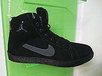 Зимние высокие кеды Nike Jordan черные 44