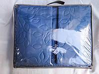 Стеганое покрывало евро-размера в комплекте с наволочками 5D Amina в сумке, однотонные