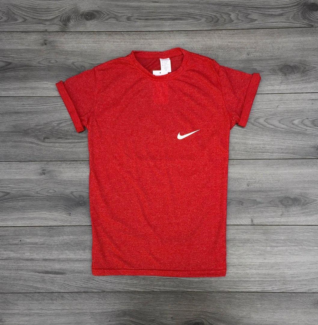 Футболка мужская Nike стрейч, красная, ТОП-реплика