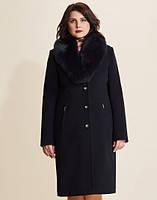 Кашемировое классическое зимнее пальто по 56 й размер