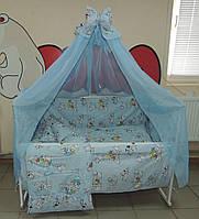Детское постельное белье голубое Далматинец Bonna 9 в 1