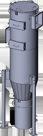 Мультициклоны Kalvis МС-8, 720-1000 кВт