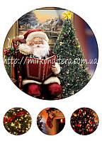 Вафельная картинка на торт Дед Мороз №4