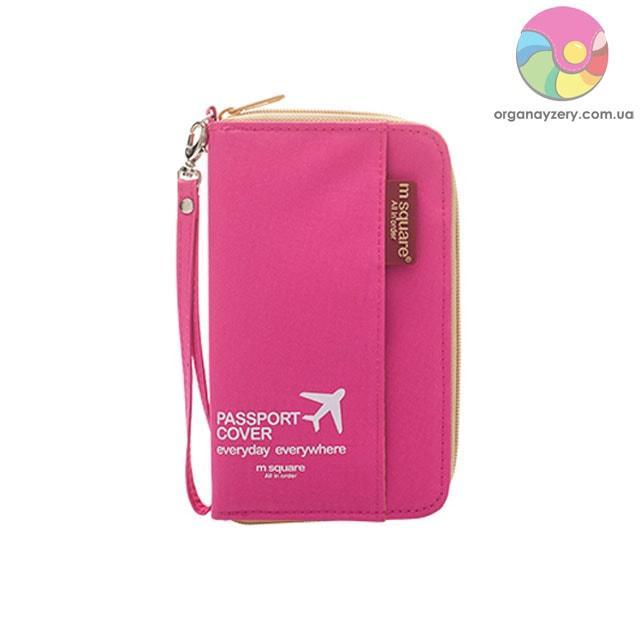Компактний органайзер для документів (рожевий)