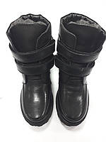 Ботинки для мальчика черные PdP4052