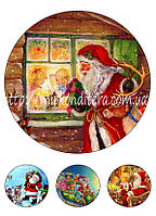 Вафельная картинка на торт Дед Мороз №6