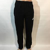 Спортивные штаны NIKE теплые, цвет черные / трикотажные, утепленные