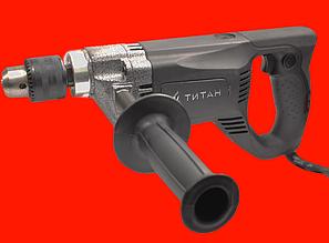 Малооборотистая дрель на 1050 Ватт Титан ПД1050РЕ с D-образной ручкой