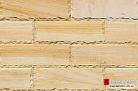 Песчаник Индия кирпичик скол Шоколад TEAKWOOD (Тейк Вуд) 70х300х20мм
