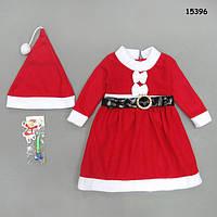 Новогоднее платье с шапочкой для девочки. 3, 4, 5 лет