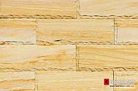 Песчаник Индия кирпичик скол Шоколад TEAKWOOD (Тейк Вуд) 100х300х20мм