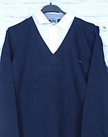Кофта-рубашка обманка для мальчика на рост 140-164
