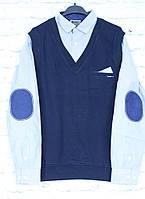Обманка (рубашка с жилеткой) 10-14 лет