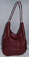 Женская сумка-мешок Michael Kors, цвет бордовый Майкл Корс MK