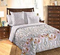 Двуспальное постельное белье с простыней на резинке 160/200/34,  Джульетта, перкаль 100%хлопок